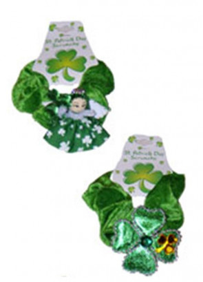 St Patricks Day Hair Scrunchie - Assorted