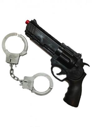 Magnum Gun and Handcuffs - 25cm