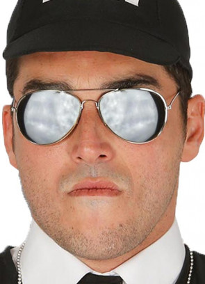 Silver Frame Mirror Glasses