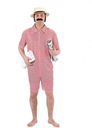 Gentleman Bather Red (1920's Beach Hunk) Costume