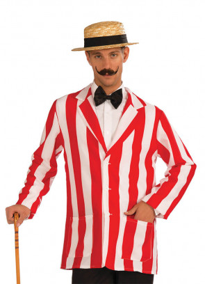 1920s Red Striped Boaters Jacket