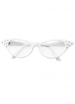 50s White Poodle Glasses