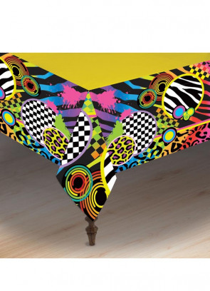 80's Party Table-Cover 137cm x 275cm