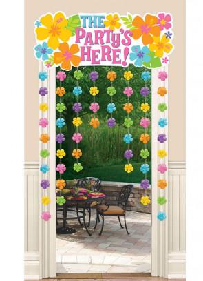 Hawaiian Hibiscus Door Curtain