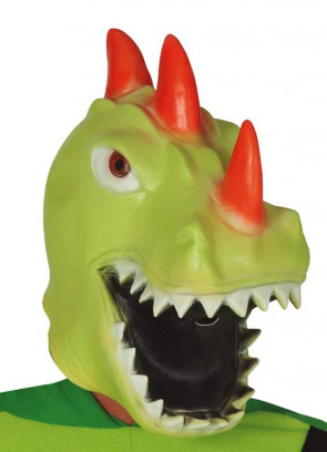 Green Dragon Overhead Mask - Latex
