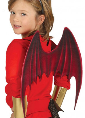 Red Dragon / Demon Wings - Kids