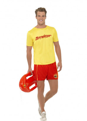 Baywatch Lifeguard (Yellow Top) Costume
