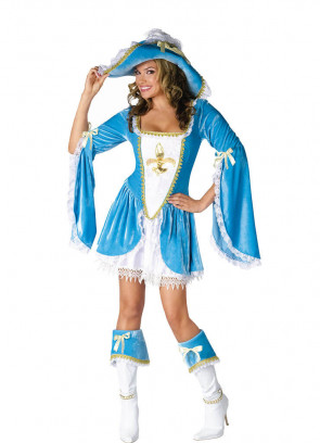 Madam Musketeer  (Blue) Costume