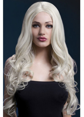 Deluxe Rhianne Long Curly Wig - Blonde - Styleable