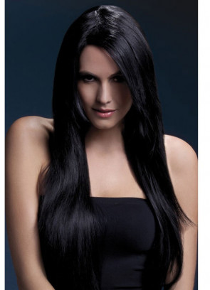 Deluxe Amber Long Straight Wig - Black - Styleable