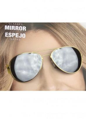 Gold Frame Mirror Glasses