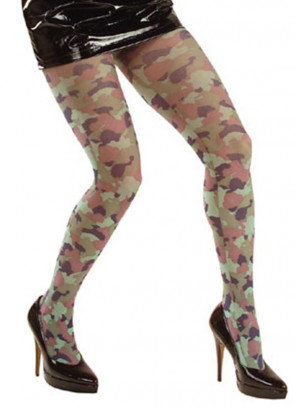 Army Camouflage Tights - Dress Size 6-12