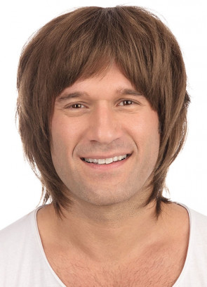 60s Hippie-Singer Brown Wig