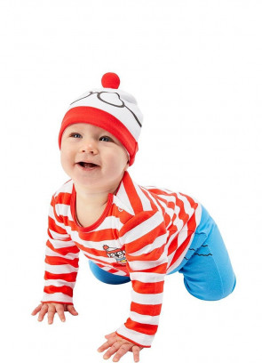 Where's Wally Baby Costume