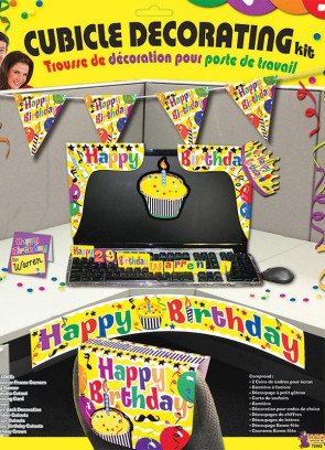 Happy Bday Cubic Decor Kit
