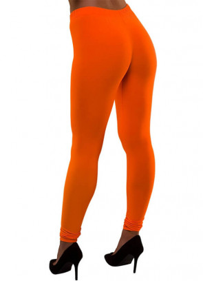 80s Leggings Neon Orange