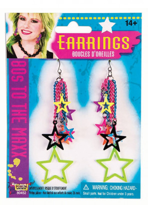 80s Neon Star Earrings