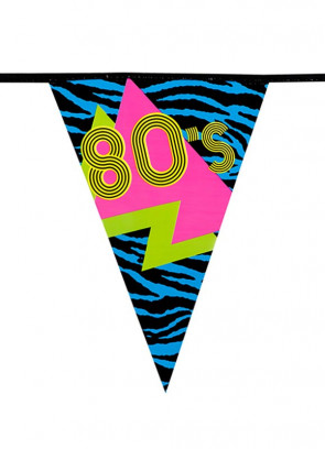 80s Party Bunting 6m – Single Sided
