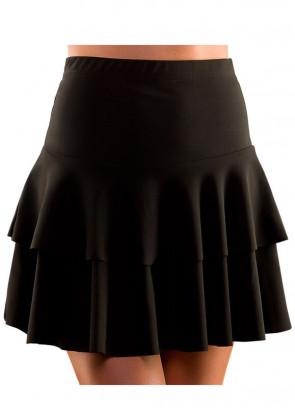 80s Ra Ra Skirt Black
