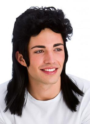 80s Black Mullet Wig
