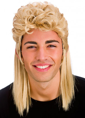 80s Shoulder Length Blonde Mullet Wig