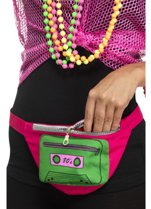 "80s Bumbag - Green Cassette - up to 38"" Waist"