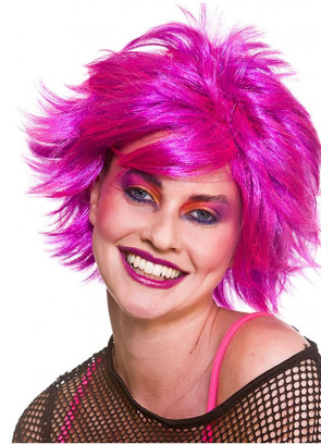 80s Chic Wig - Pink