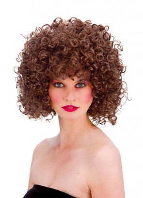 80s Perm Disco Wig (Brown)