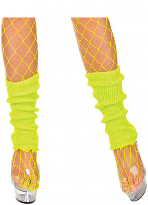 80s Legwarmers Yellow