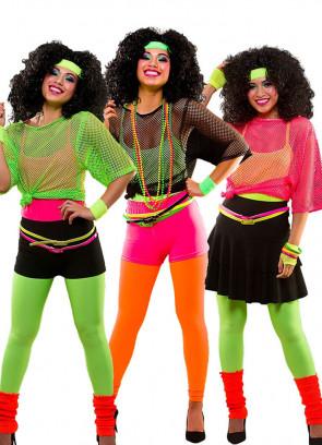 80s Ra Ra Skirt Neon Orange