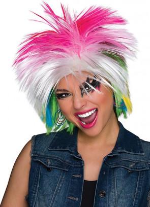 80s Punk Rainbow Wig