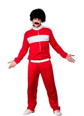 80s Retro Trackie Red (Shell Suit) Costume