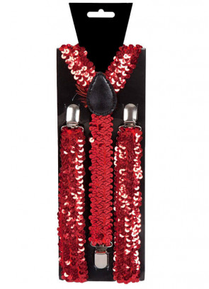 Red Sequins Trouser Braces
