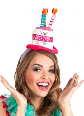 'Happy Birthday' Mini Cake Hat on Headband