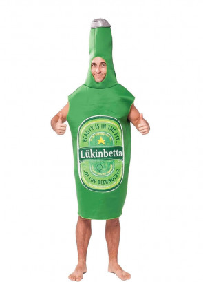 Beer Bottle (Green) Costume