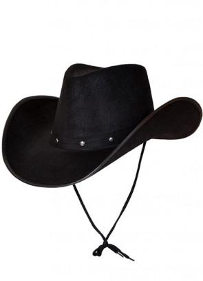 Texas Black Studded Cowboy Hat