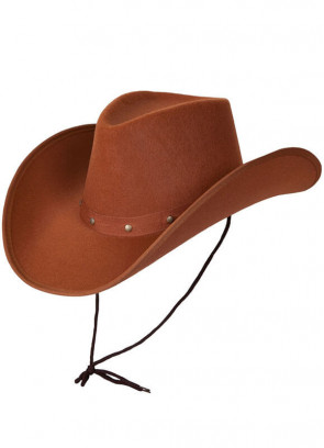 Texas Brown Studded Cowboy Hat