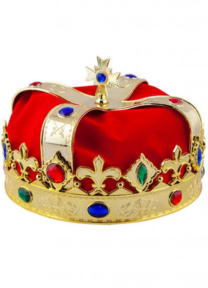 Dome Crown - Red & Gold