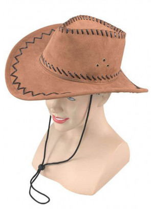 Cowboy Hat (Stitched Brown)