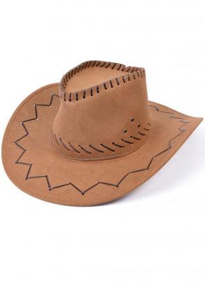 Cowboy Hat (Stitched Brown)