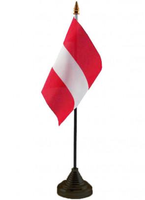 """Austria Table Flag 6"""" x 4"""""""