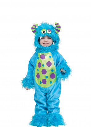 Baby Blue Fuzzy Monster Costume