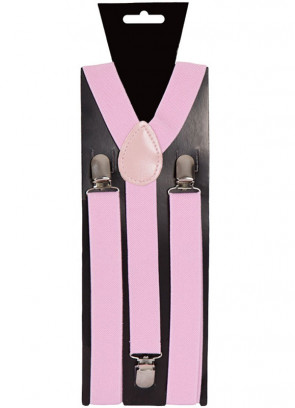 Baby Pink Trouser Braces