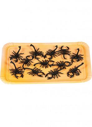 Bag of Rubber Scorpions - 12pk – 7cm