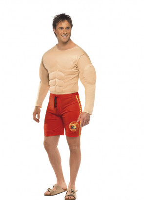 Baywatch Muscles Lifeguard (Hoff) Costume
