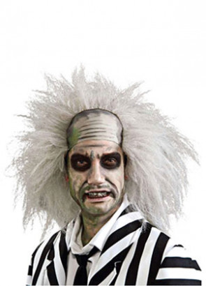 Beetlejuice Wig - Bald Head and White hair