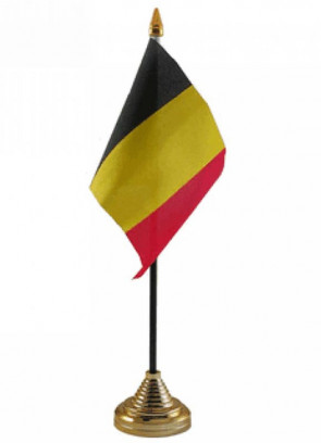 "Belgium Table Flag 6"" x 4"""