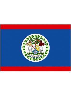 Belize Flag 5ftx3ft