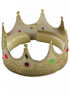Gold Crown with Jewels - Foam Lined