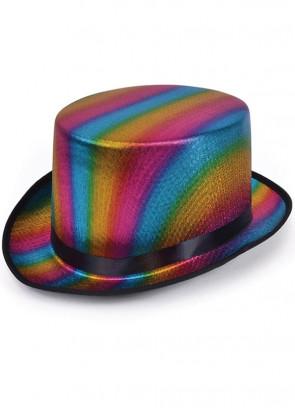 Rainbow Top Hat – Satin